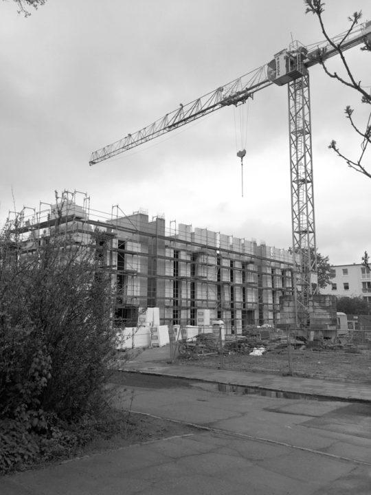 Baustellenfoto EG und 3 Etagen