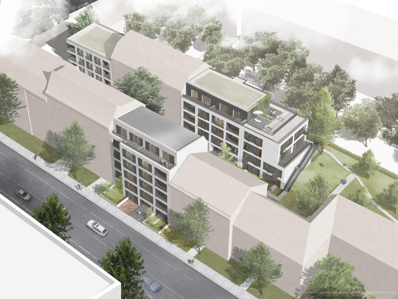 Drei Wohnhäuser in Adlershof