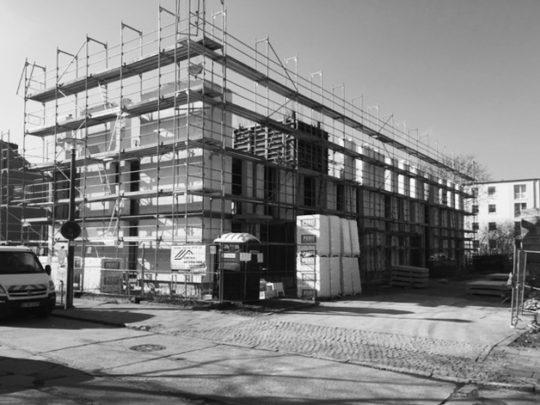 Baustellenfoto EG und 2 Etagen